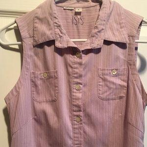 Lightweight, pale purple sleeveless activewear top